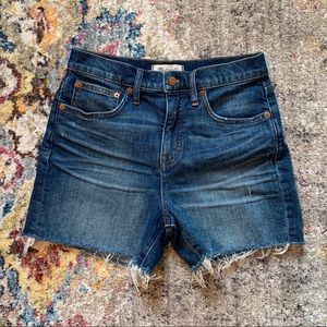 Madewell High-Waisted Denim Shorts